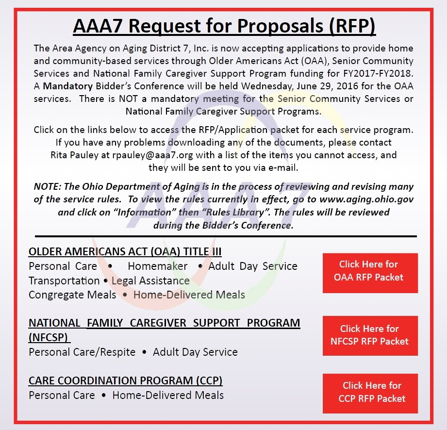 Ad for a Request For A Proposal